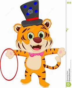 Cartoon circus tiger stock vector. Image of tiger ...