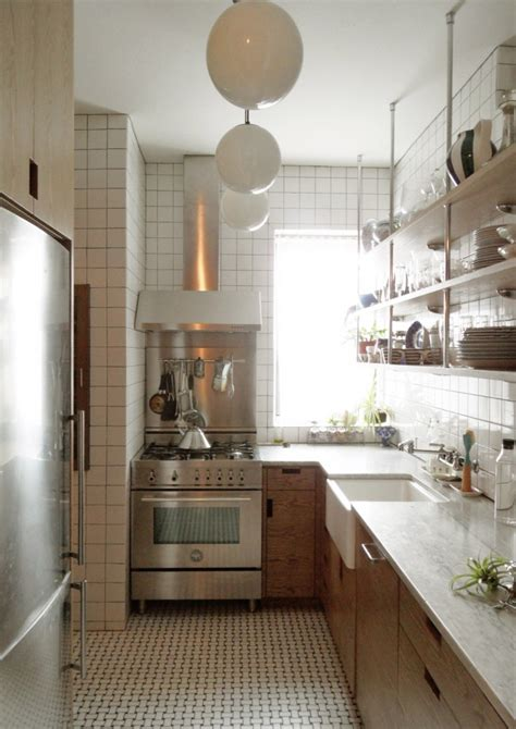 small  york city apartment kitchen   light