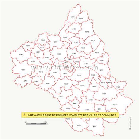 Carte Code Postal by Carte Des Codes Postaux De L Aveyron