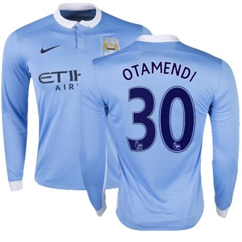 Men's 30 Nicolas Otamendi Manchester City FC Jersey - 15 ...