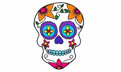 Skull Printable Coloring Sugar Skulls Clipart Printables