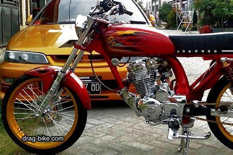 Gambar Cb by 51 Foto Gambar Modifikasi Motor Cb 100 Terbaik Kontes Drag