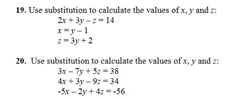 solve systems  equations  substitution sheet  key