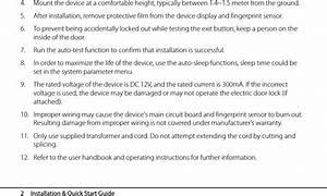 Zkteco Sf400id Access Control Terminal User Manual