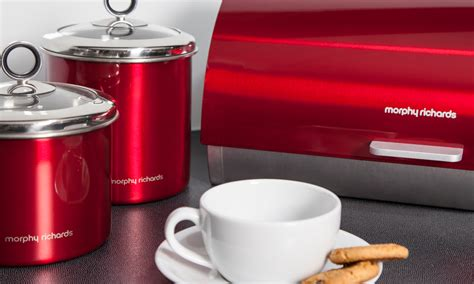 kitchen canisters black morphy richards bread bin groupon goods
