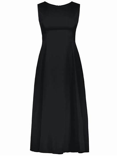 Dresslily Formal Semi Sleeveless Plain Line Prom
