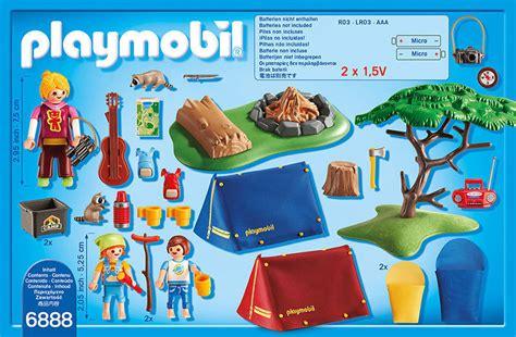 playmobil camping  kids