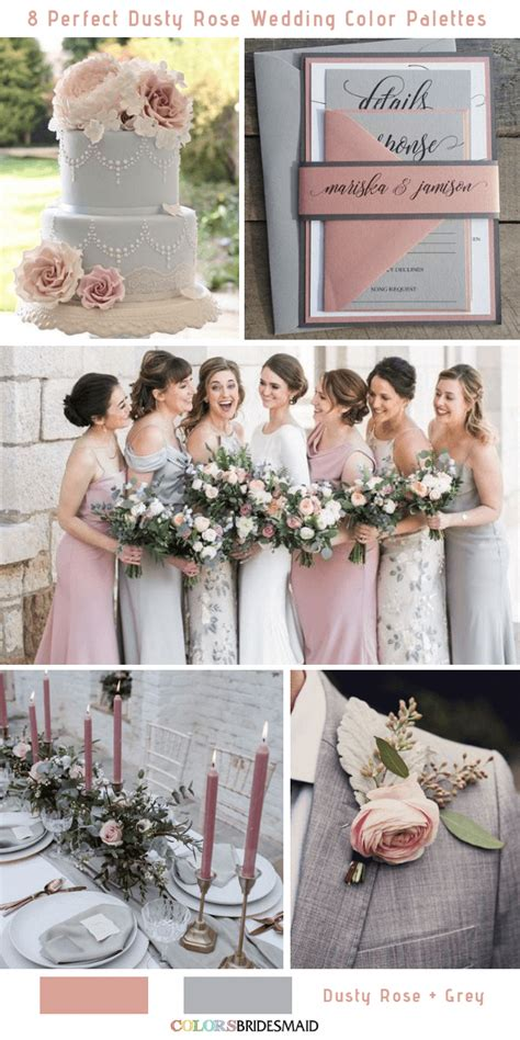 8 Perfect Dusty Rose Wedding Color Palettes for 2019 No 6