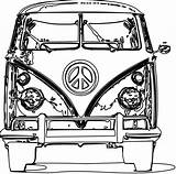 Vw Coloring Bus Pages Volkswagen Camper Drawing Adult Colouring Line Removal Azcoloring Lines Vector sketch template