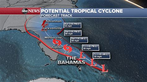potential tropical cyclone headed  hard hit bahamas