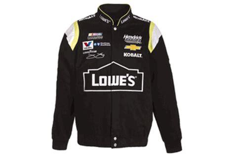 jimmie johnson lowes mens black twill nascar jacket