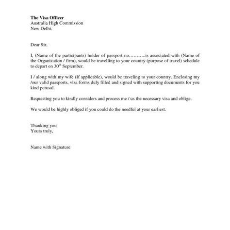 cover letter  visa application ideal vistalist