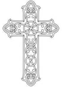 disegno  una croce celtica da colorare disegni da