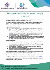 Updates To My Aged Care