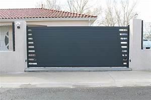 Portail En Aluminium : micro perfor portail aluminium toulousaine ~ Melissatoandfro.com Idées de Décoration
