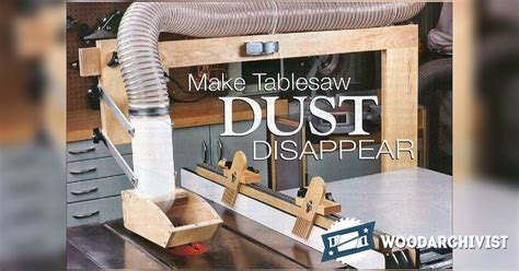 diy table  dust collector woodarchivist