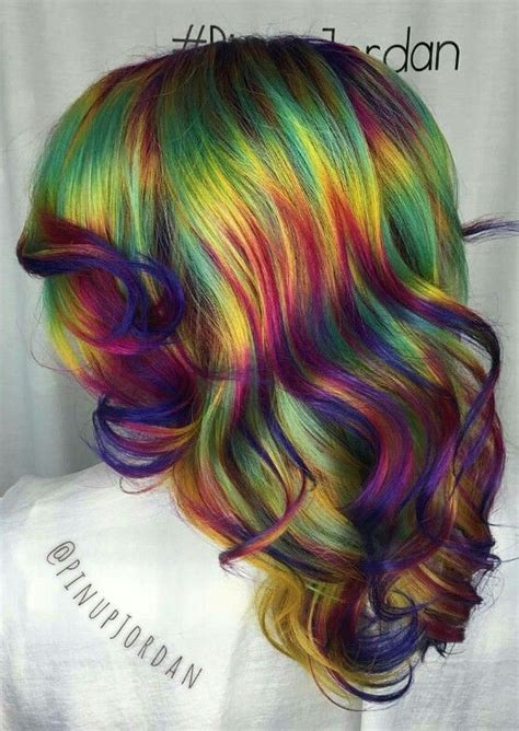 Best 25 Rainbow Dyed Hair Ideas On Pinterest Colored