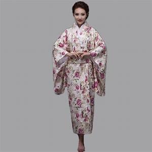Hot Sale Fashion Women Kimono Yukata Haori With Obi Pink ...