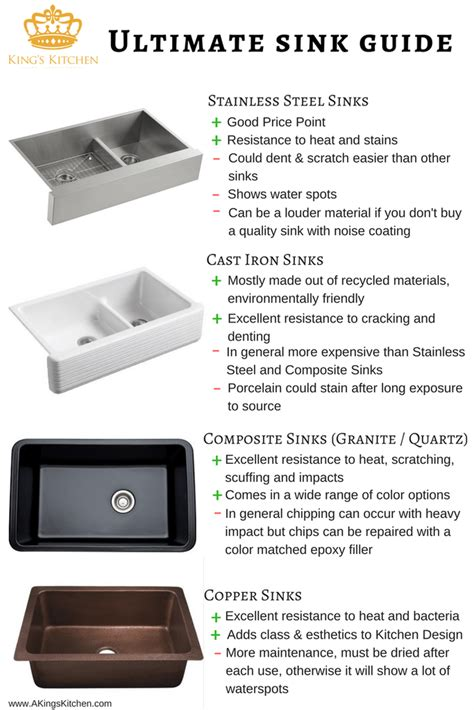 kitchen sink materials kitchen sink types pros and cons style and material 2781