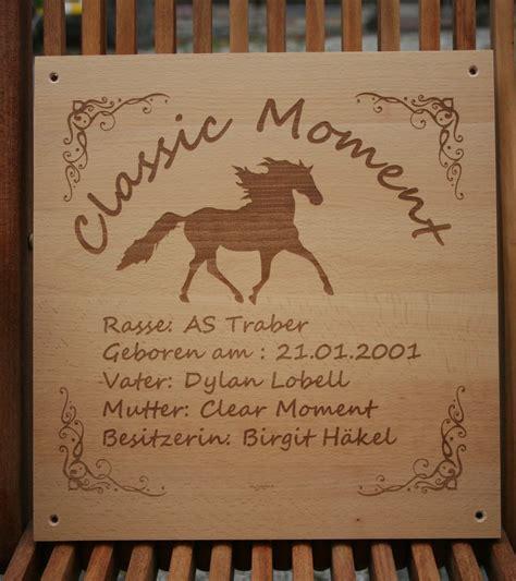 Boxenschild Pferd Holz
