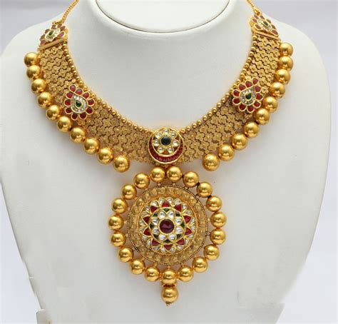 52 pc jewellers gold chain indian jewellery and clothing emerald pendant from