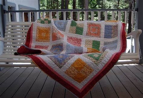 wooden swing 1930sslerquilt draped 1930s and fabrics