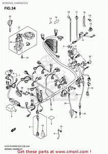 Suzuki Gsxr750 2009  K9  Usa  E03  Wiring Harness