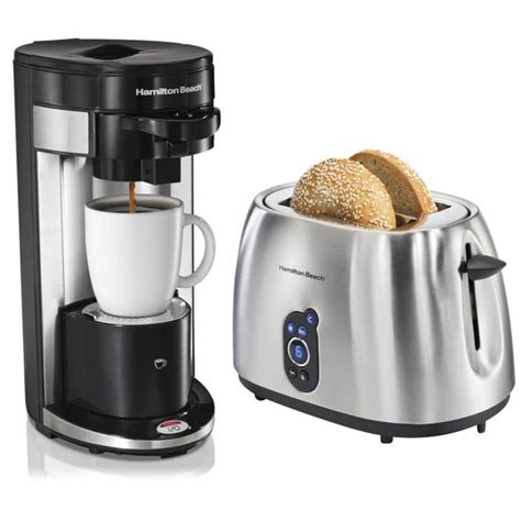 Rated 5 out of 5 by anonymous from hamilton beach 2 way coffee brewer great product from a rated 5 out of 5 by bev from coffee maker i love this coffeemaker.i can brew a whole pot or one cup. Hamilton Beach FlexBrew Grounds and Pods Coffee Maker + 2-Slice Digital Toaster - Walmart.com ...
