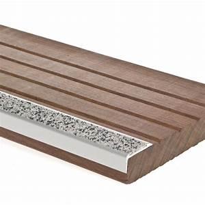 Marche Bois Escalier : antid rapant terrasse bois nez de marche escalier 29mm x 1m ~ Voncanada.com Idées de Décoration