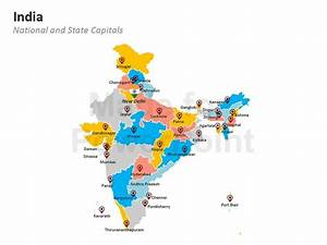 india map editable powerpoint maps With india map ppt template