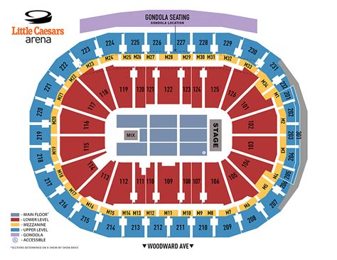 Little Caesars Arena Seating Chart - Red Wings - In Play ...