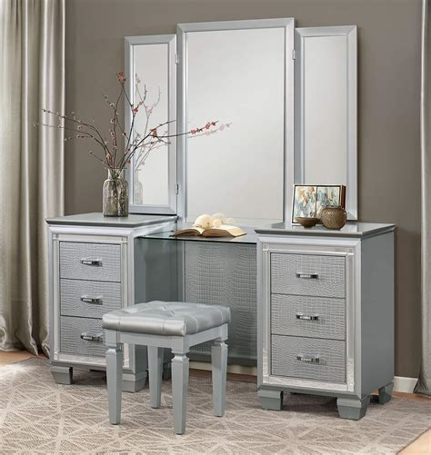 vanity set with mirror vanity set with stool poundex vanity set with stool