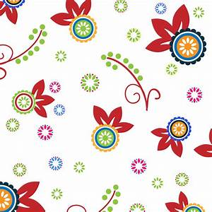 Clipart - Colorful Floral Pattern Background 2