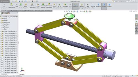 Design And Assembly Of Car Jack In