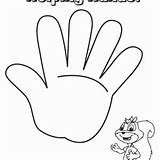 Hand Outline Coloring Hands Drawing Helping Pages sketch template