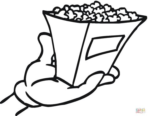 Popcorn Coloring Pages Printable