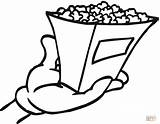 Popcorn Coloring Pages Printable Bag Chips Grill Shopping Outline Clipart Template Clip Bucket Tasty Getcolorings Box Supercoloring Snacks Donuts Coloringhome sketch template