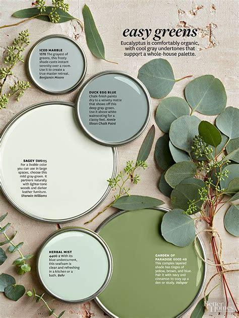 better homes and gardens paint palettes color stories
