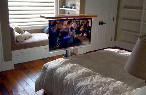 tv lift  floor tv hidden  floor  bedroom nexus