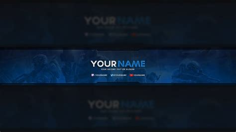 halo youtube banner template psd youtube