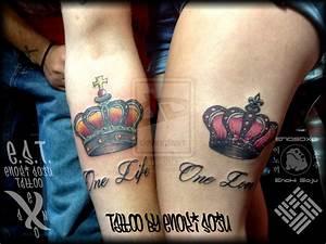 His and Hers Crown Tattoos By Enoki Soju by enokisoju on ...