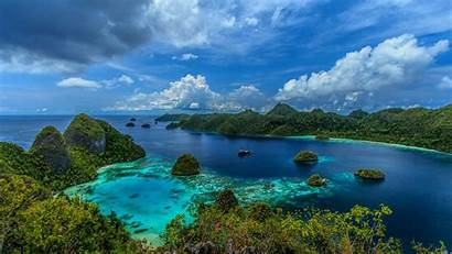 Indonesia Tropical Landscape Island Mountain Wallpapers Islands