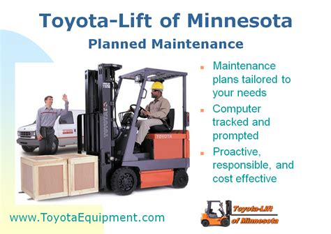 forklift planned maintenance book toyota lift