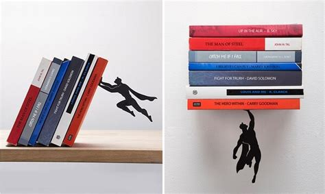 "Books Are Being ""saved"" By Superman Bookends Designed By"