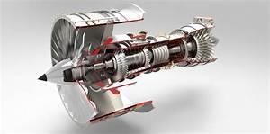 Jet Engine Free 3d Model Stp