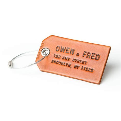 bag tag custom leather luggage or bag tag gifts for made in the usa owen fred