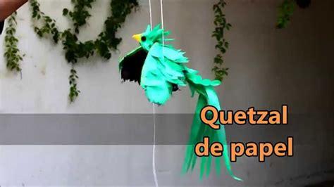 quetzal de papel