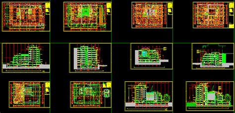office building plan  autocad cad   mb