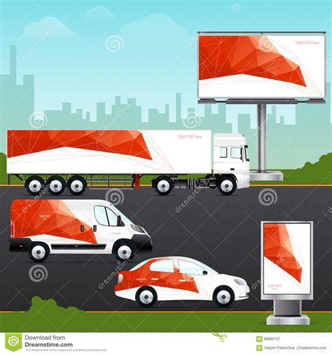 design template vehicle outdoor advertising  corporate