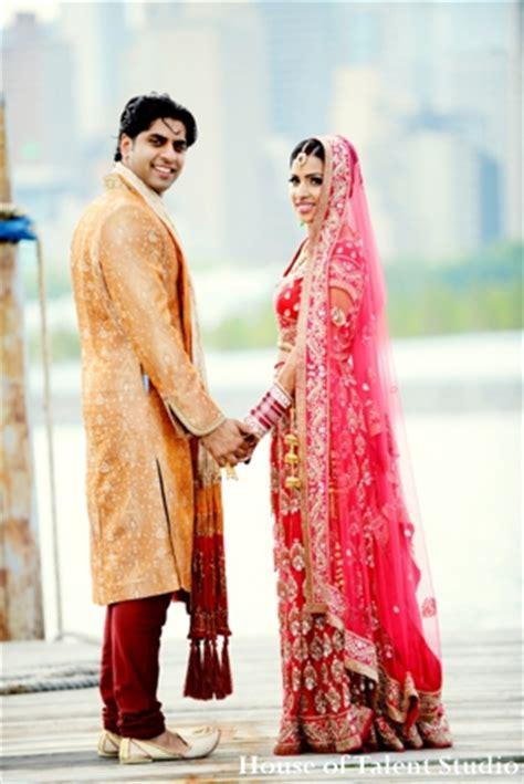 indian wedding bride couple portrait photo